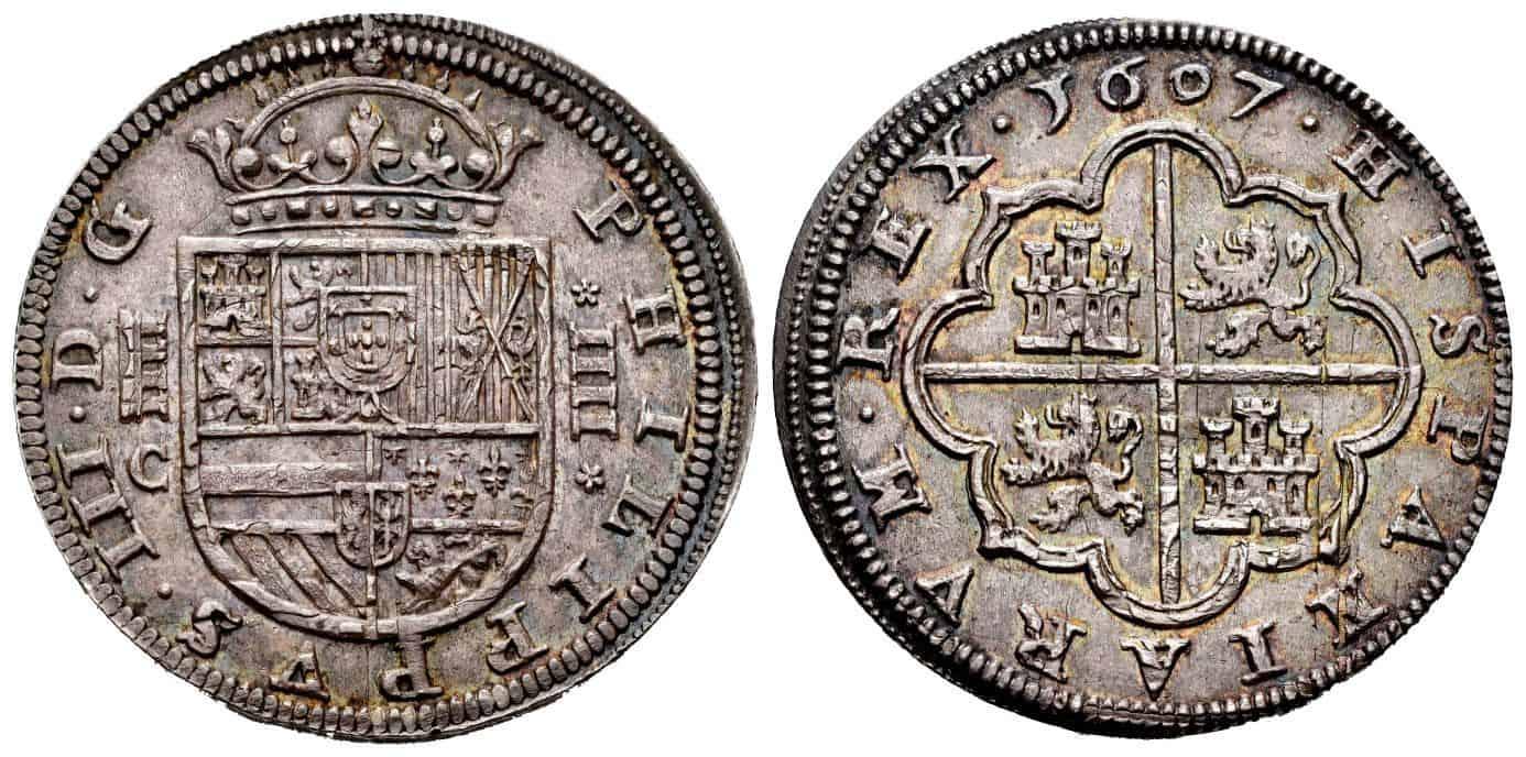 4 reales 1607, Segovia