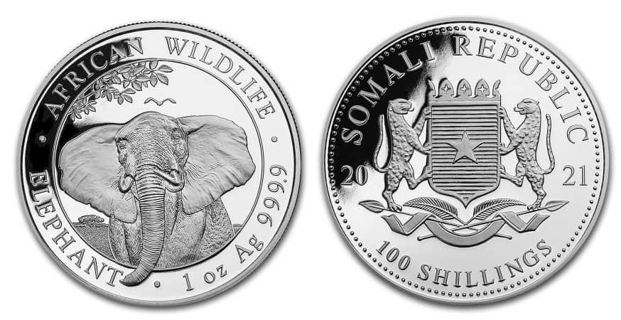 Somalia, 1 onza «elefante» 2021