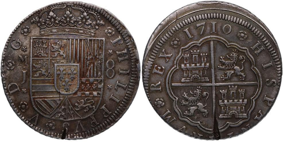 8 reales 1710, Madrid