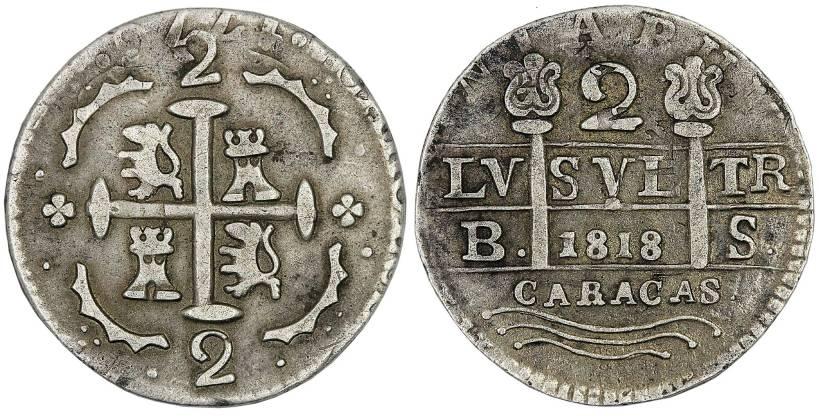 2 reales morillera 1818