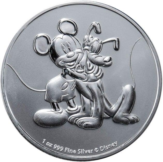 moneda Mickey y Pluto