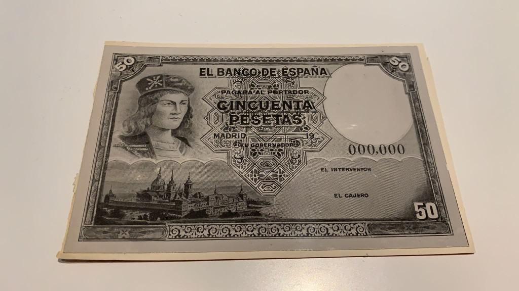prueba impresión 50 pesetas