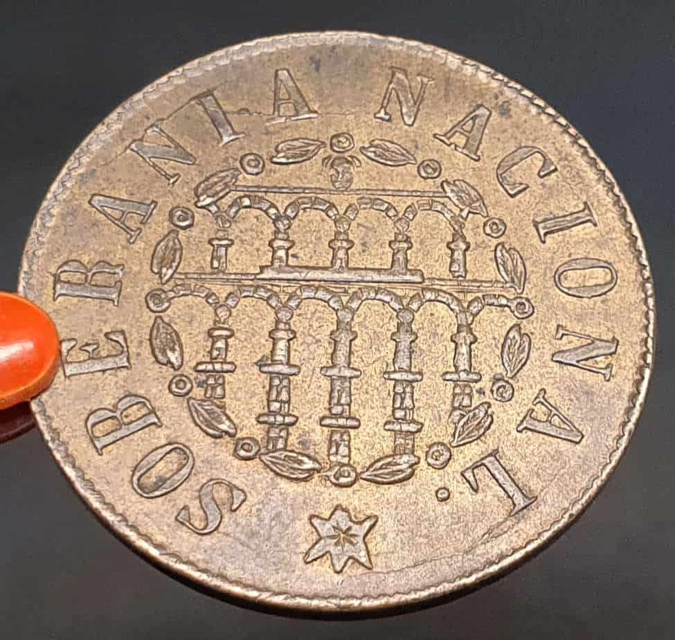 25 milésimas de escudo 1868