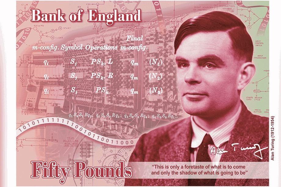 Alan Turing en el nuevo billete de 50 libras