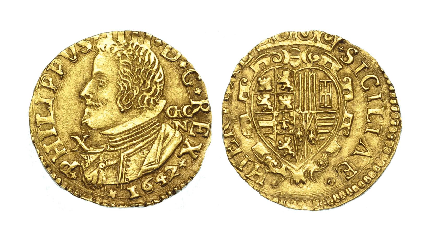 Escudo Nápoles 1647