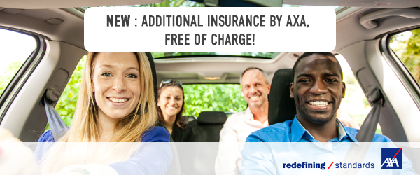 Your journey is insured, in partnership with AXA!