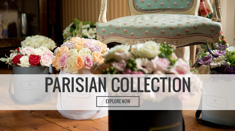 Bloom Magic Parisian Hatbox Flowers Collection