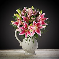 Gorgeous pink lily bouquet perfect for any occasion. This bouquet will surely delight and put a smile on their face. Order this lily bouquet for same-day delivery in Dublin and next day delivery to anywhere in Ireland.