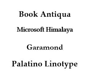 typography serif