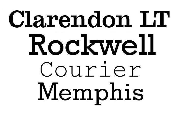 typography slab serif