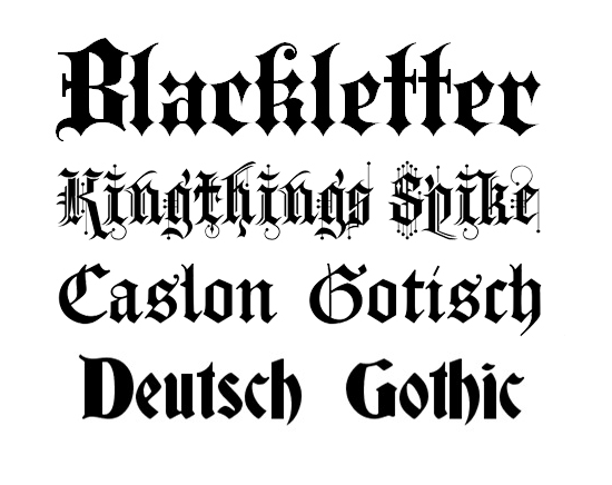 typography blackletter
