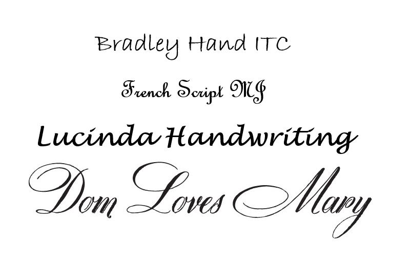 typography cursive script