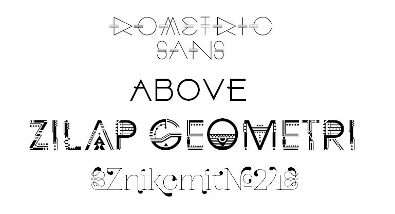 typography geometric