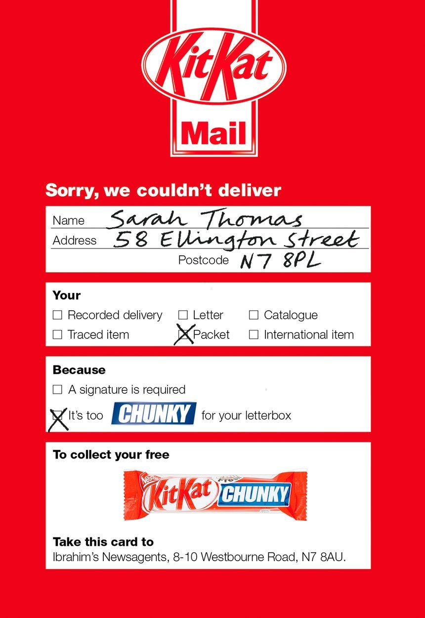 Direct Mailers Kit Kat
