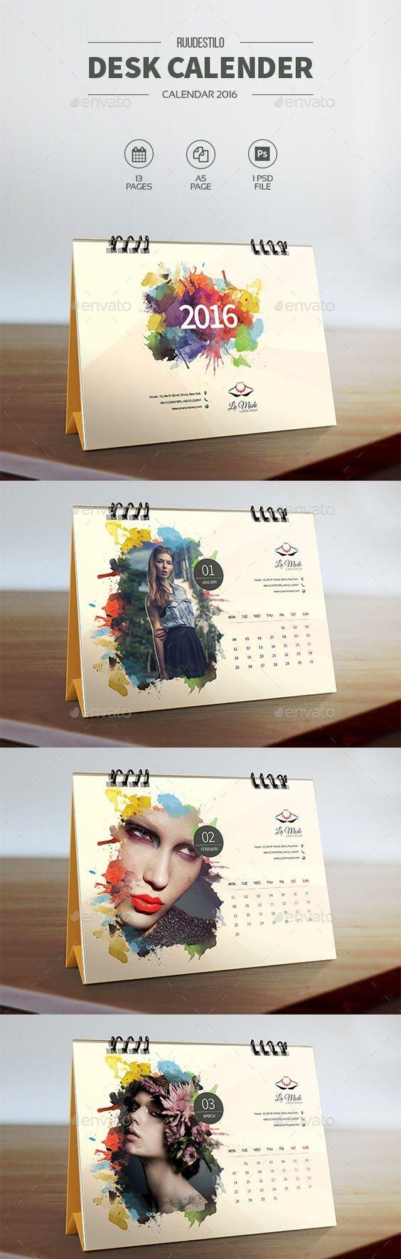 Calendar Colour Splash