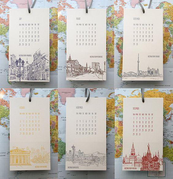 Calendar Letterpress