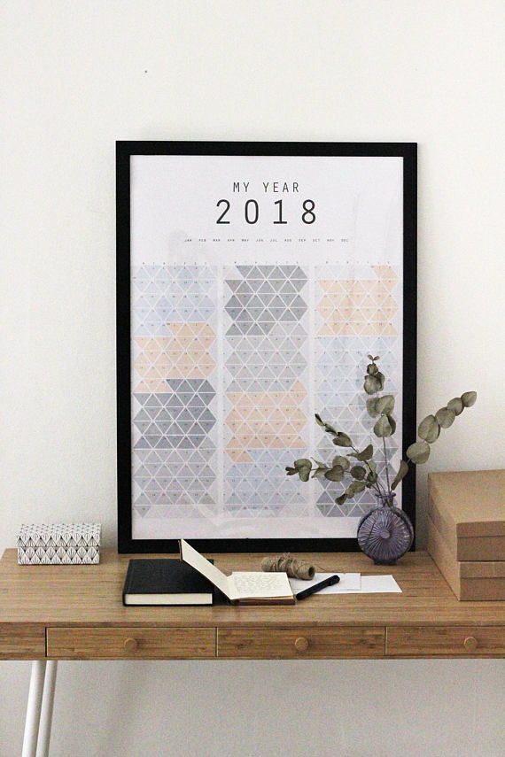 Calendar Triangle Wall