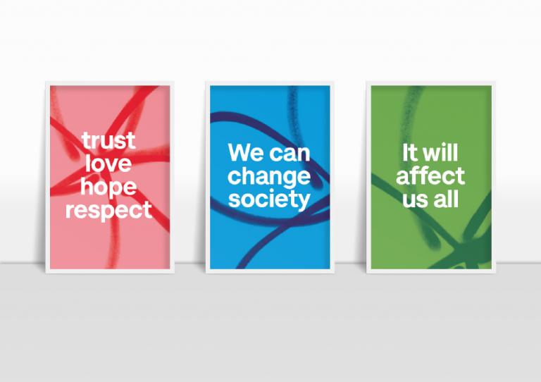 Rebrand Alzheimers pop colours