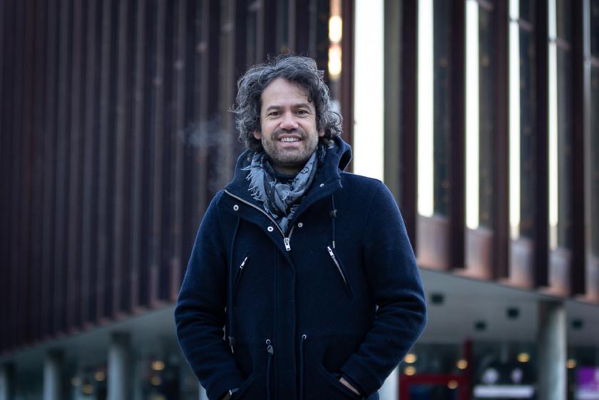 Eivind Gullberg Jensen utenfor Grieghallen