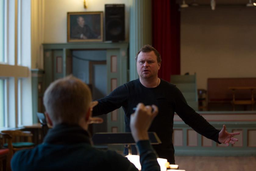Sergey Skorokhodov at rehearsals