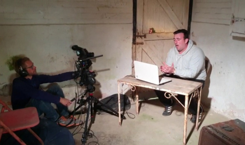 Filming the hideaway