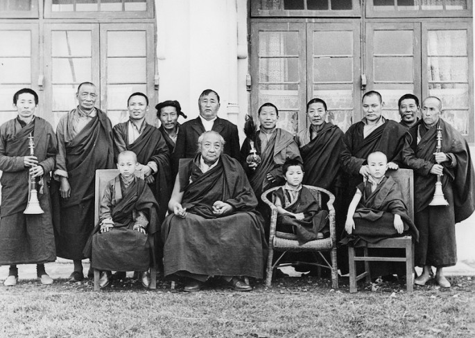 Uncle, far left, during a Rinchen Terdzo transmission from His Holiness Dilgo Khyentse Rinpoche.