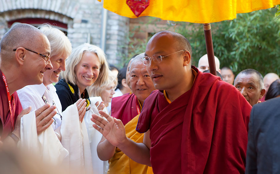 HH-Karmapa-visiting-Bodhicharya-Berlin-2014
