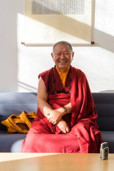 Rinpoche at Rigpa Berlin Dharma Mati center