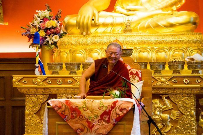 Rinpoche at Rigpa Berlin Dharma Mati centre