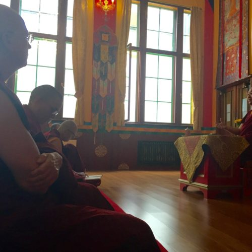 RTR at Kagyu Samye Dzong London July 2016. Photo by Conrad Harvey.