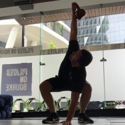 KB overhead with squat