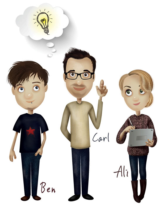 Ben Reeves, Carl West & Ali Smith