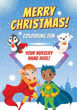 Christmas Colouring Book - Superhero