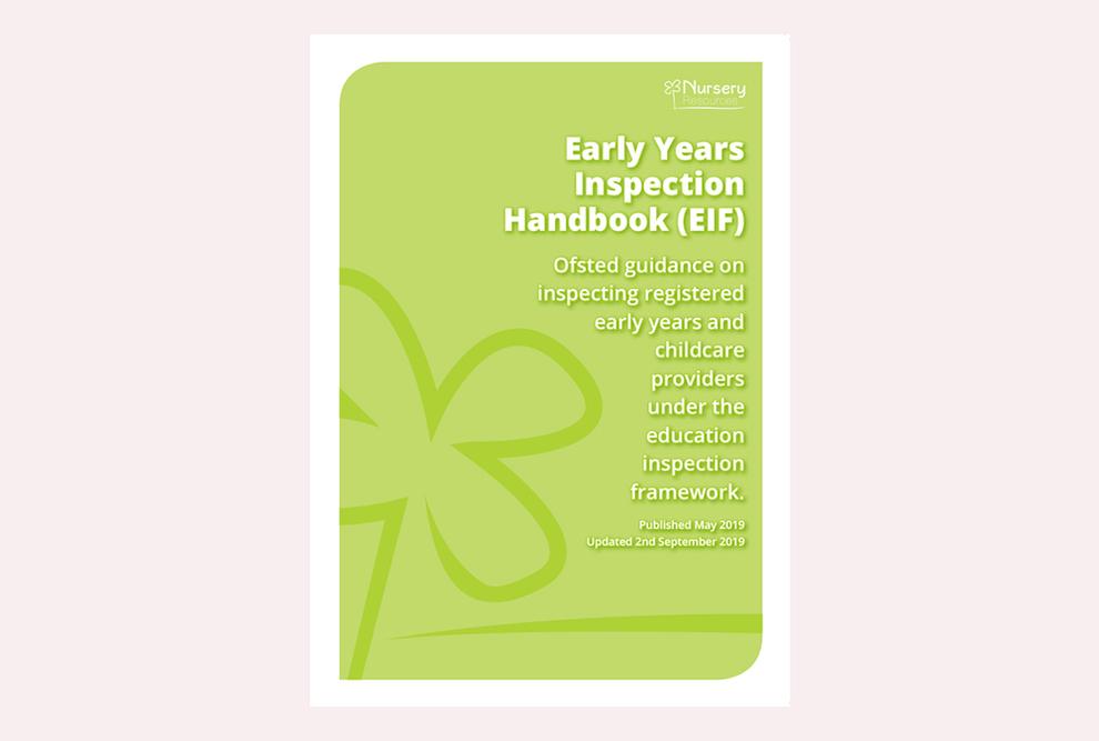 Early Years Inspection Handbook (EIF)