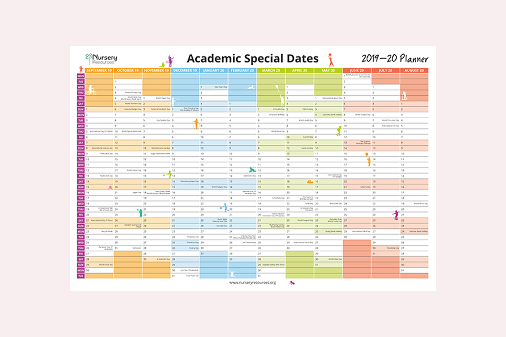 Academic 'Special Dates' Wall Planner 2019-20