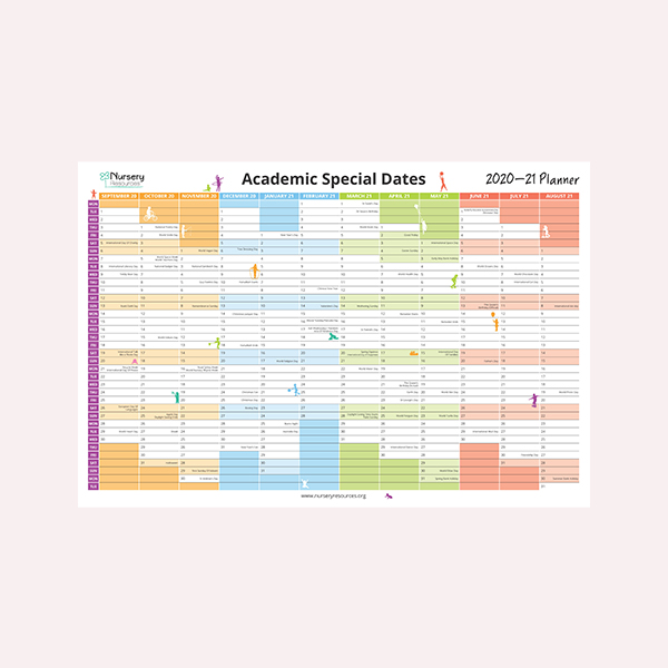 Academic 'Special Dates' Wall Planner 2020-21