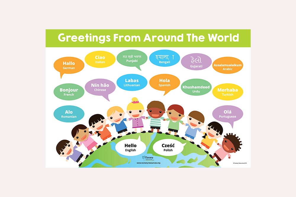 Greetings from around the world poster nursery resources m4hsunfo