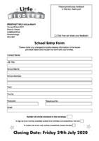 School Entry Form