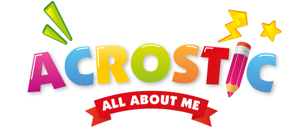 My First Acrostic - All About Me Logo