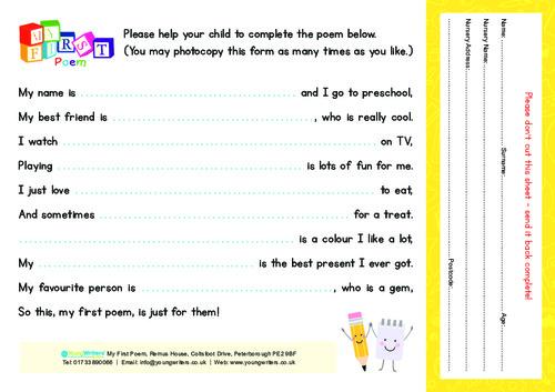 Children's Entry Form Thumbnail
