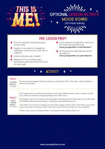 Mood Board Activity Lesson Plan Thumbnail