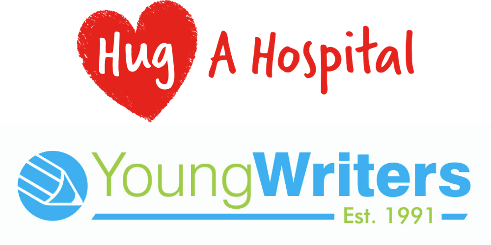 Young Writers teams up with charitable initiative Hug a Hospital. Header Image