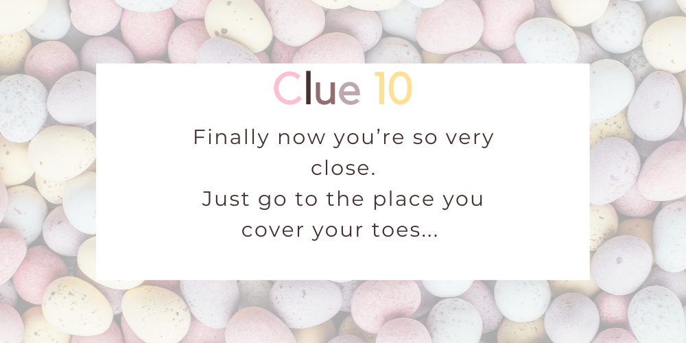 Spruce up your Easter with these eggciting Easter egg hunt clues. Image 9