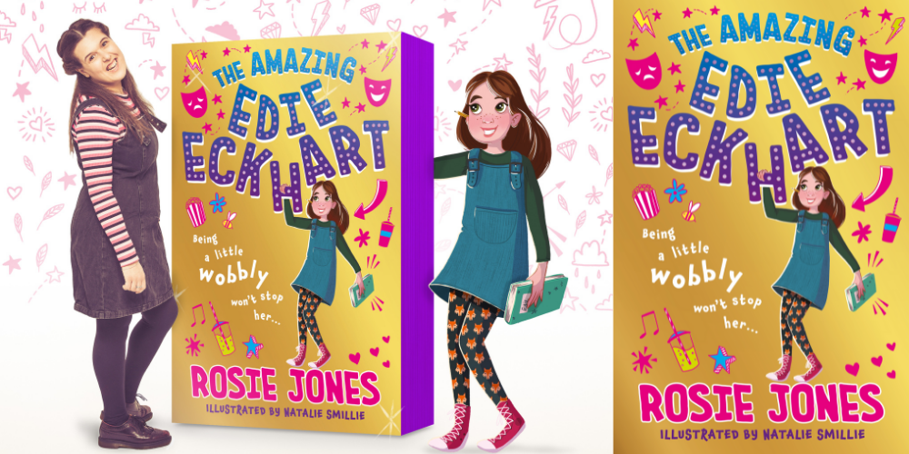 Interview with comedian and author Rosie Jones on her new uplifting book The Amazing Edie Eckhart Header Image