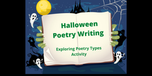Halloween Poetry Writing - Exploring Poetry Types Activity Thumbnail