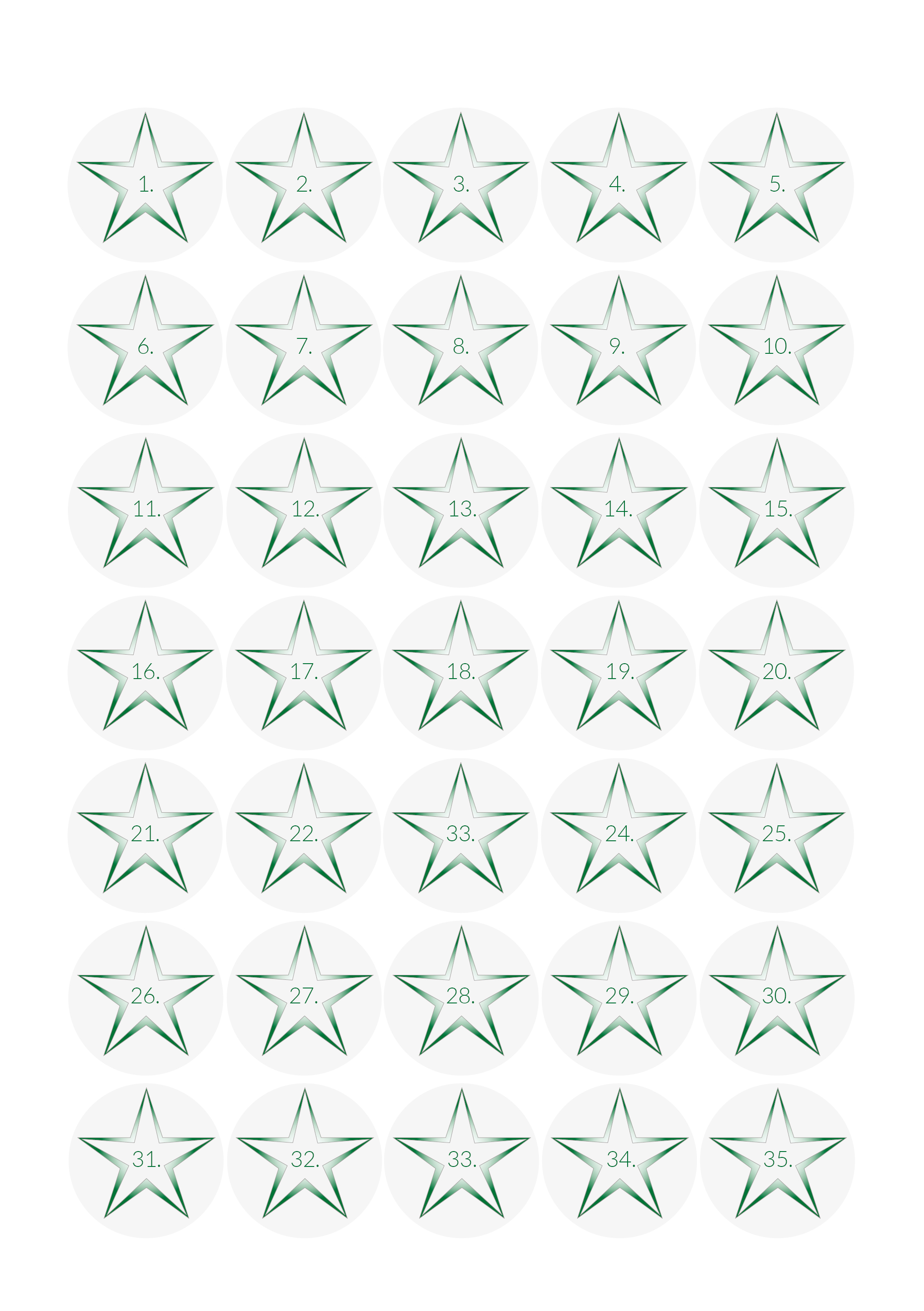 Rewards & Sanctions - Gradient Star Design