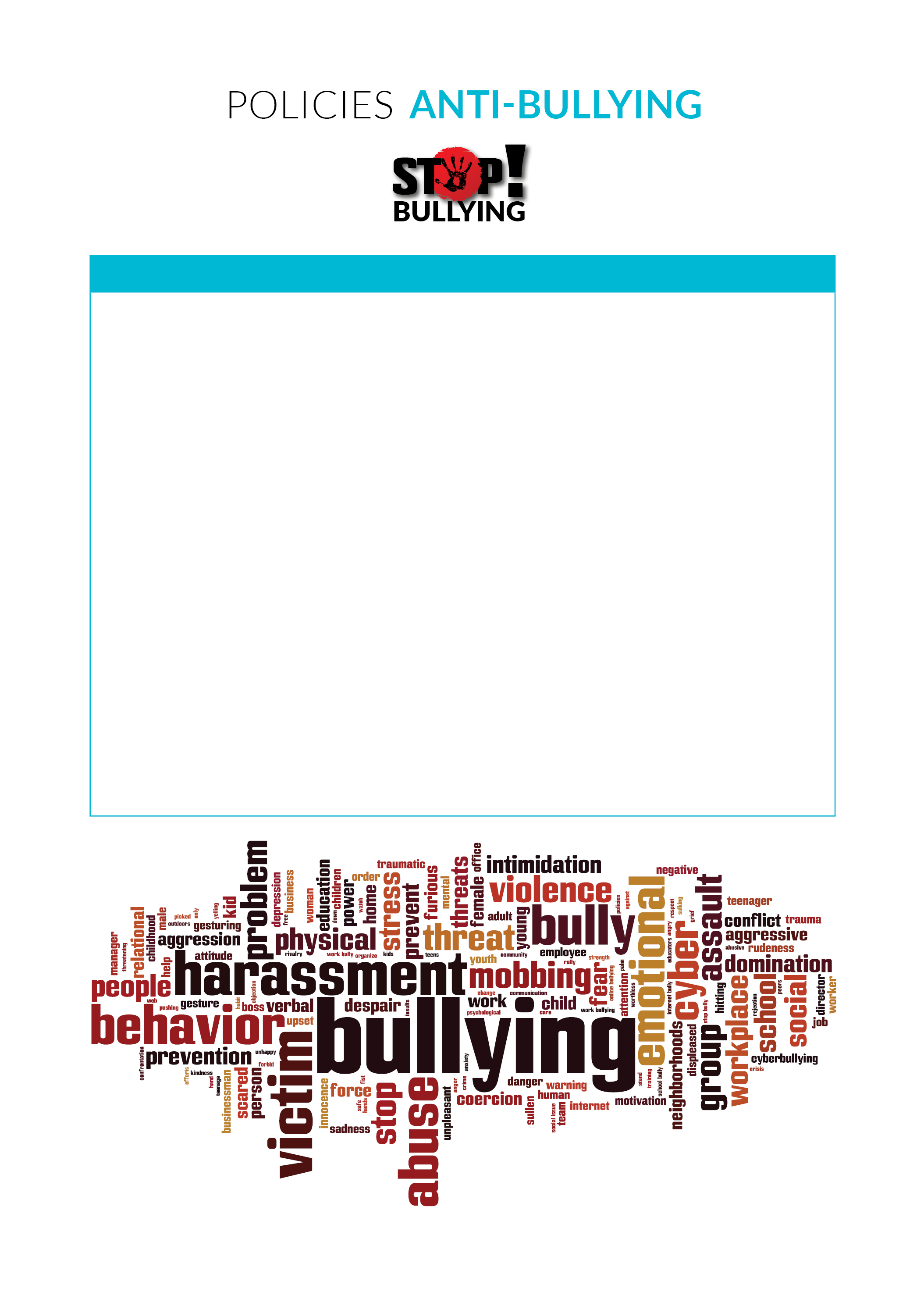 Policies - Anti-Bullying Blank Template