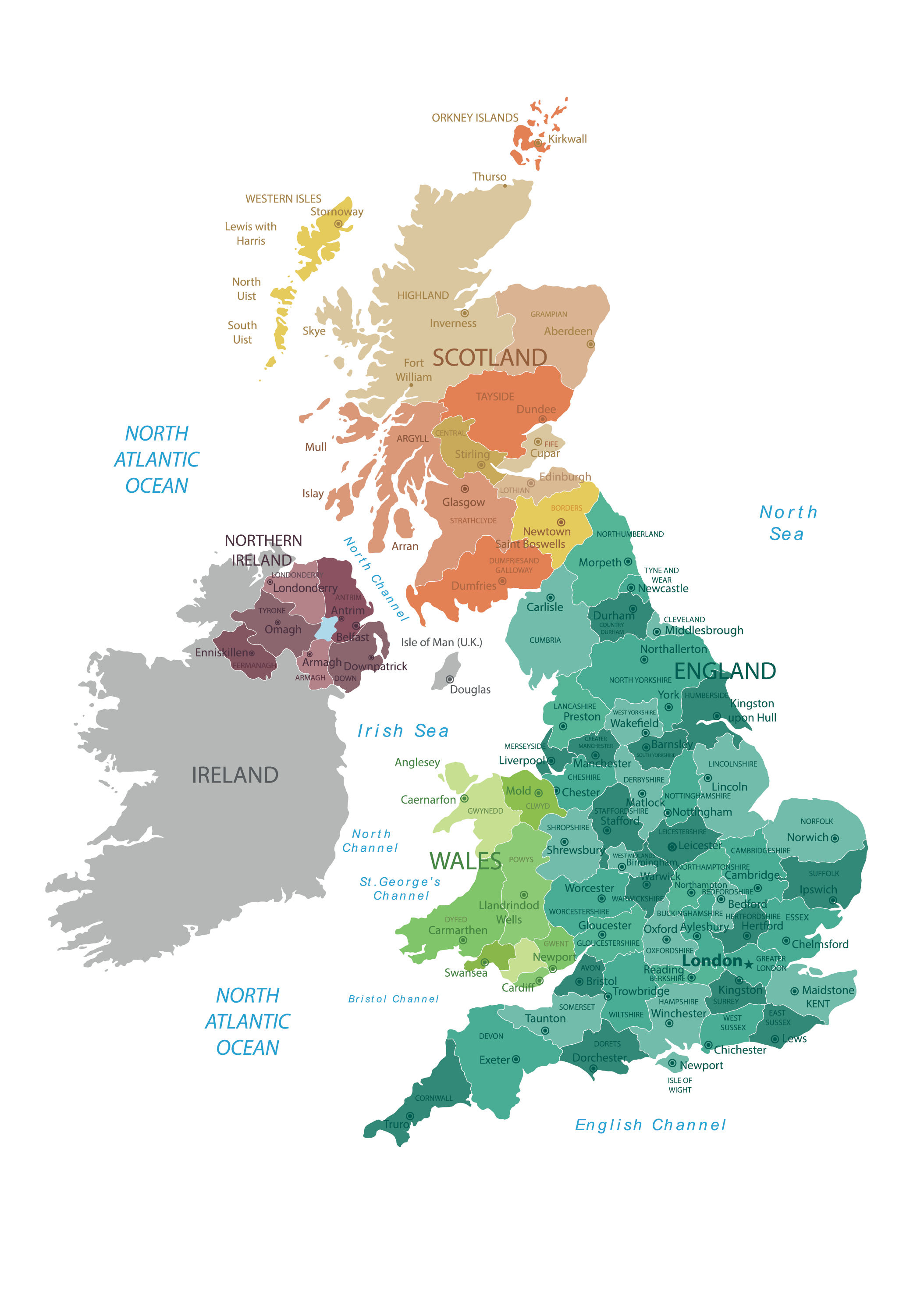 Full Preview of Map of the United Kingdom