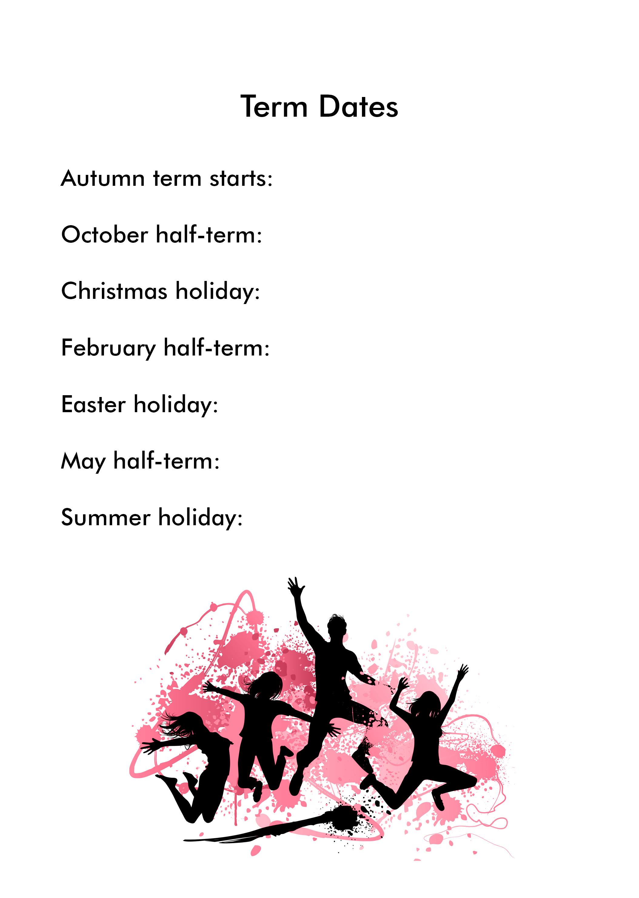 Diary - Holidays