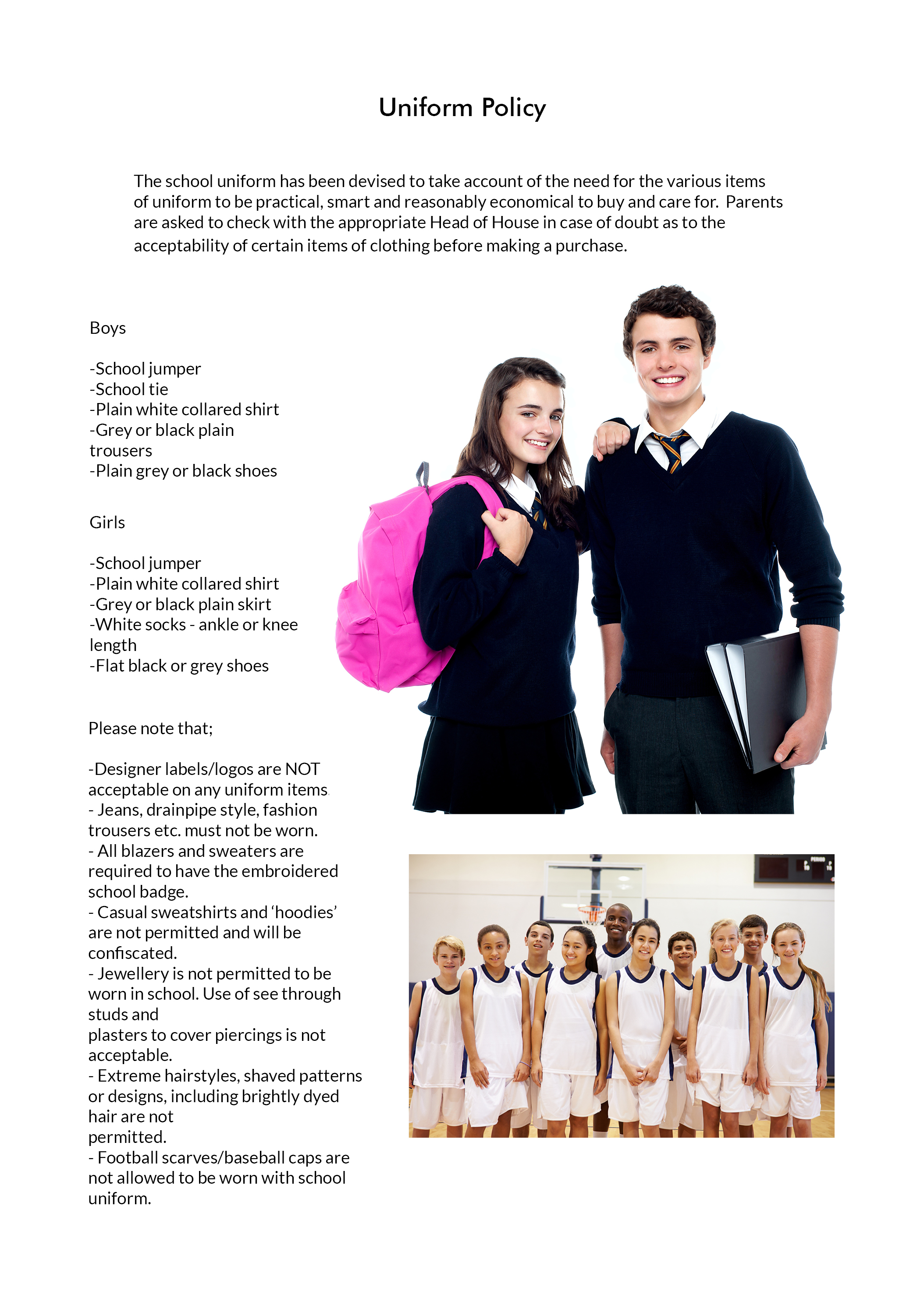 Uniform Template Large Picture
